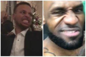 Steph Curry mocks LeBron James