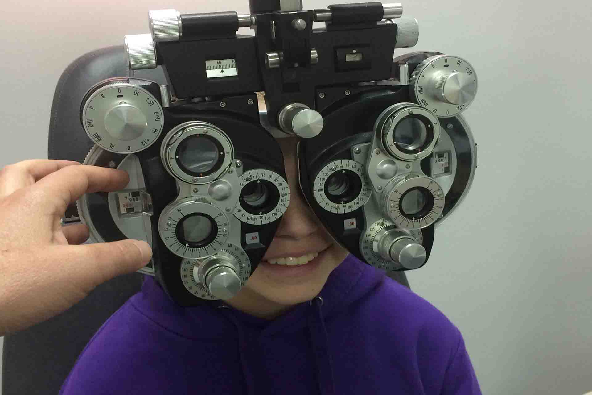 What should you not do before an eye exam?